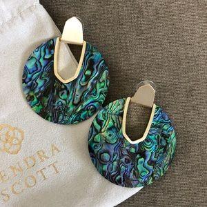 Kendra Scott Diane statement earring in abalone